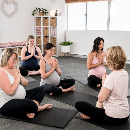 Pregnant mothers doing yoga